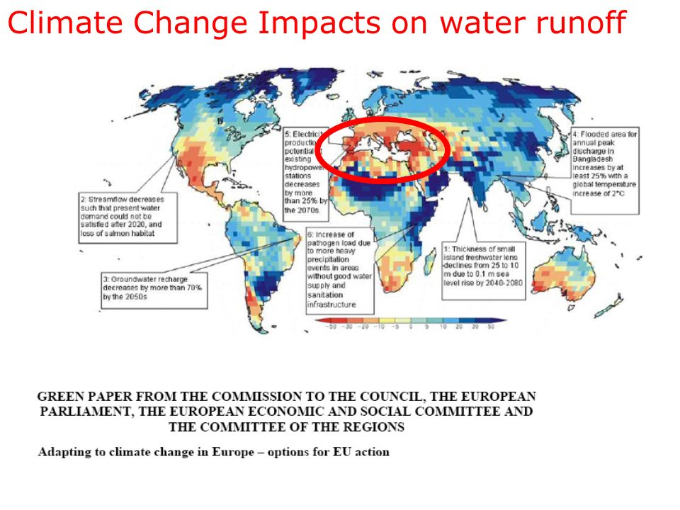 Climate Change Impacts on water runoff