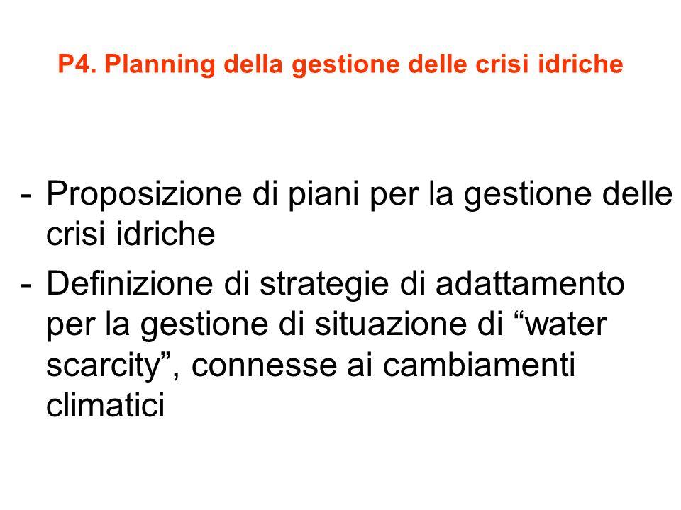 P4. Planning della gestione delle crisi idriche