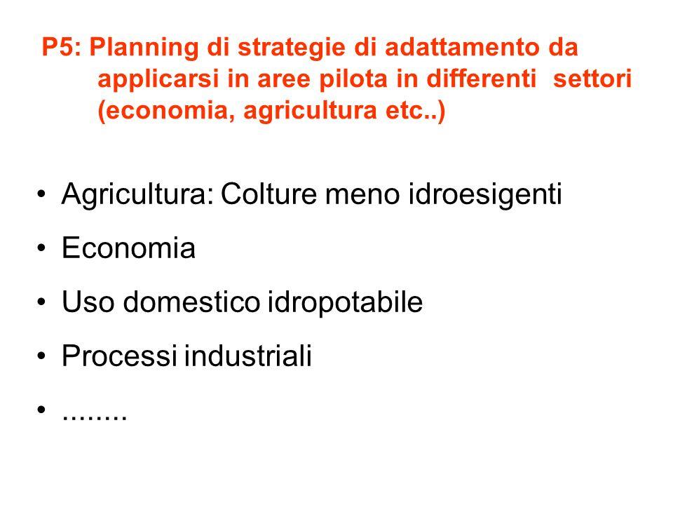 Agricultura: Colture meno idroesigenti Economia
