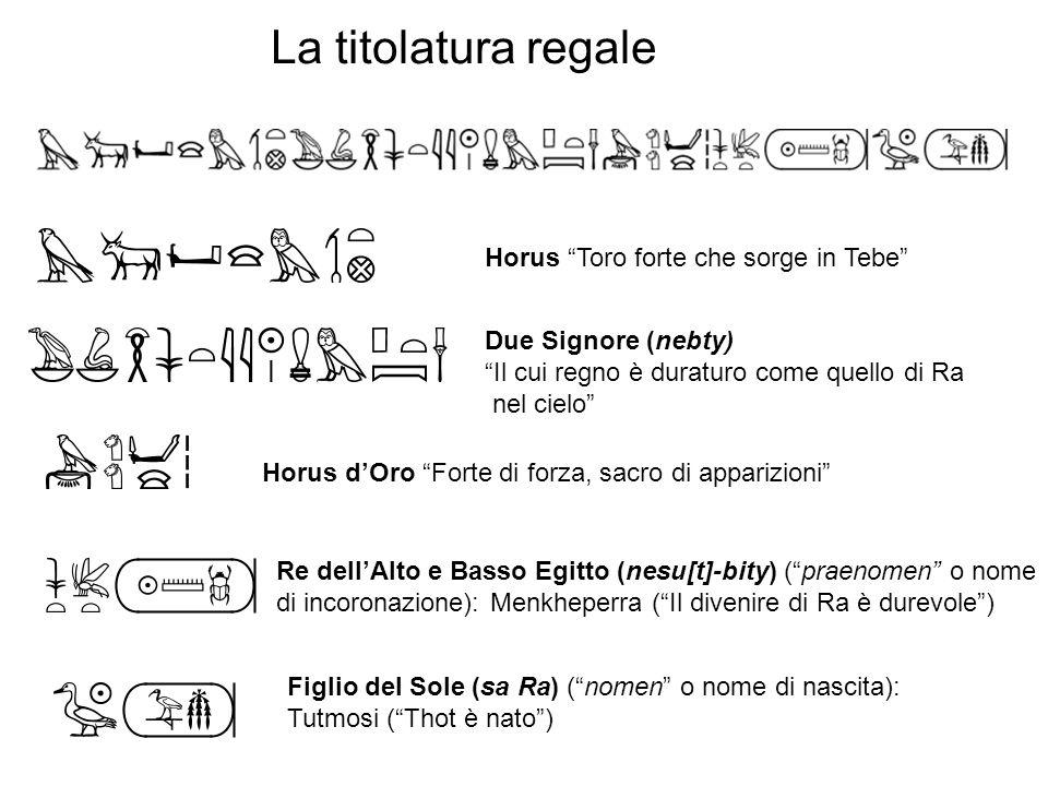 La titolatura regale Horus Toro forte che sorge in Tebe
