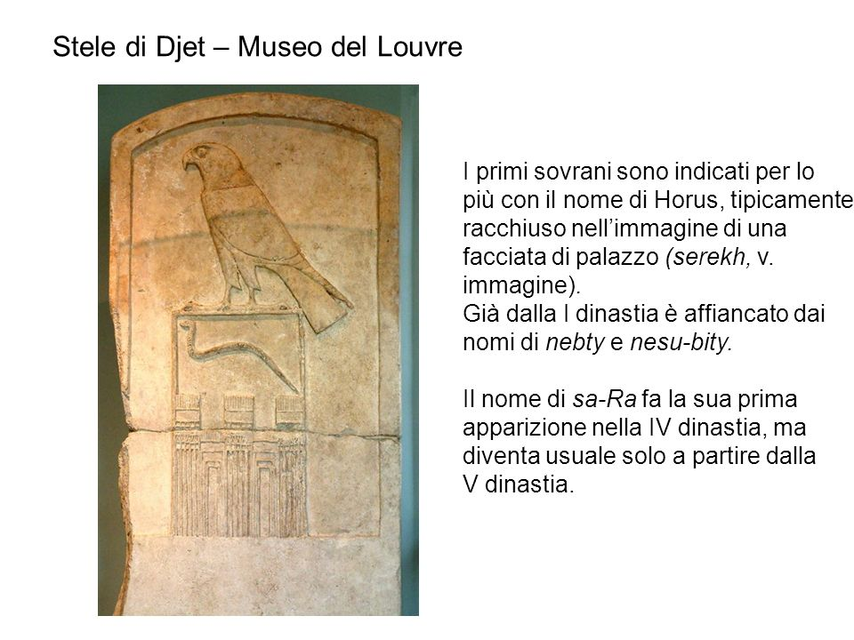 Stele di Djet – Museo del Louvre