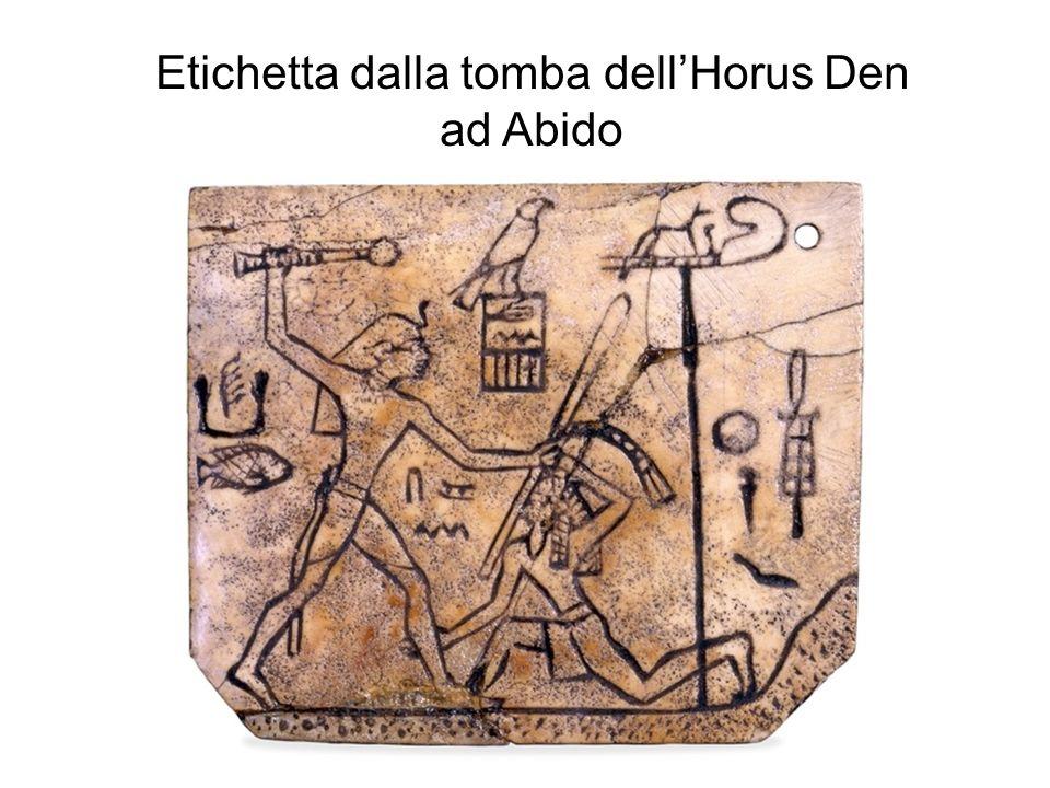 Etichetta dalla tomba dell'Horus Den
