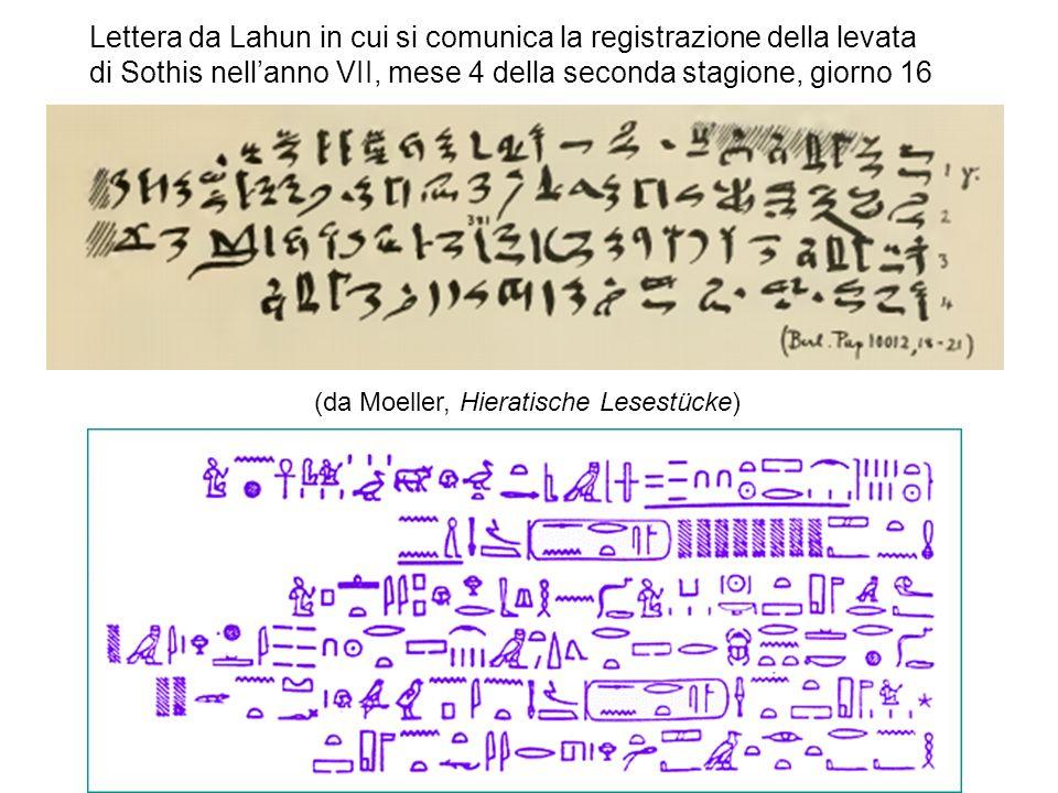 Lettera da Lahun in cui si comunica la registrazione della levata di Sothis nell'anno VII, mese 4 della seconda stagione, giorno 16