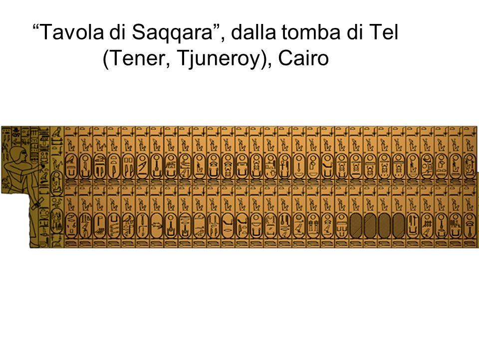 Tavola di Saqqara , dalla tomba di Tel (Tener, Tjuneroy), Cairo