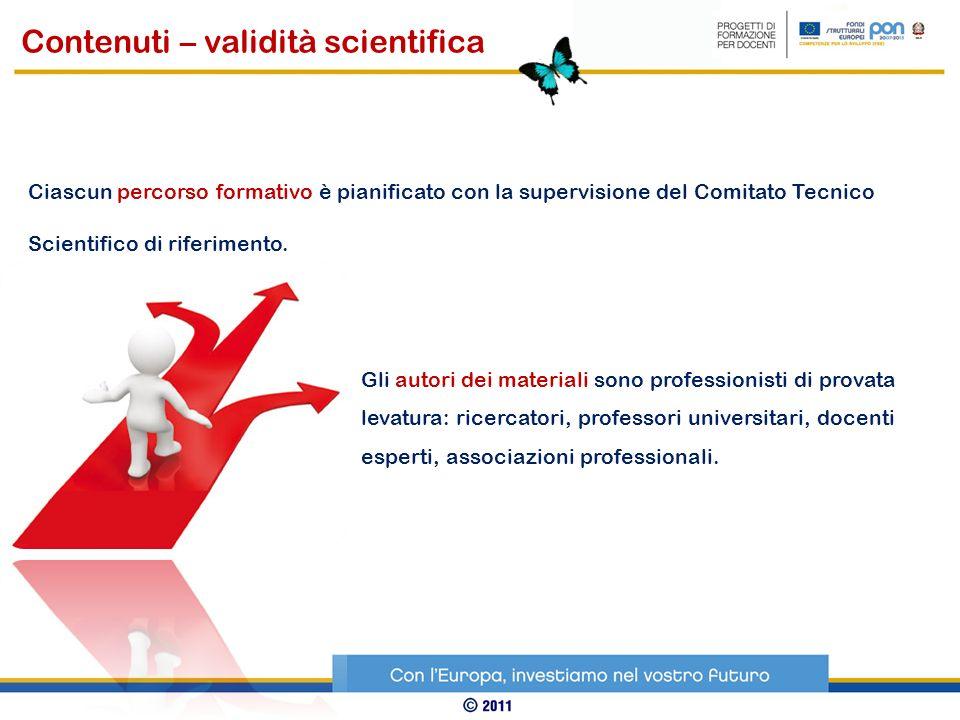 Contenuti – validità scientifica