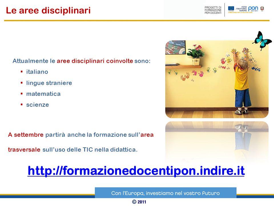 http://formazionedocentipon.indire.it Le aree disciplinari