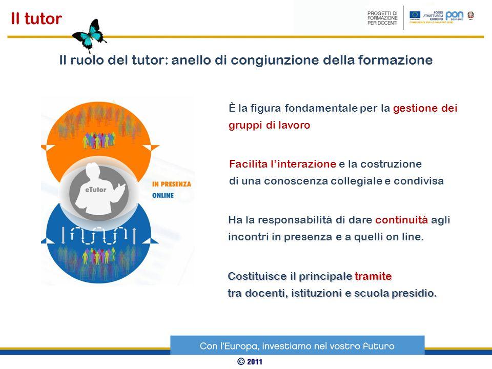 Il ruolo del tutor: anello di congiunzione della formazione