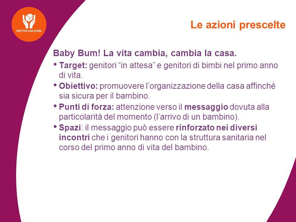 Le azioni prescelte Baby Bum! La vita cambia, cambia la casa.