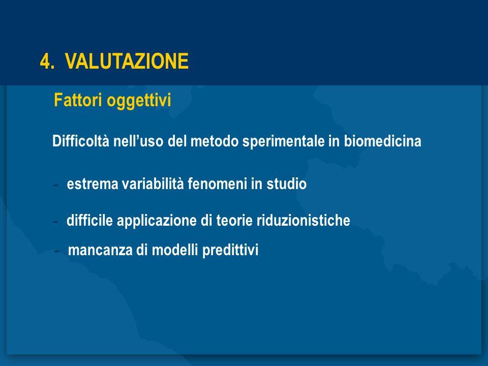 4. VALUTAZIONE Fattori oggettivi