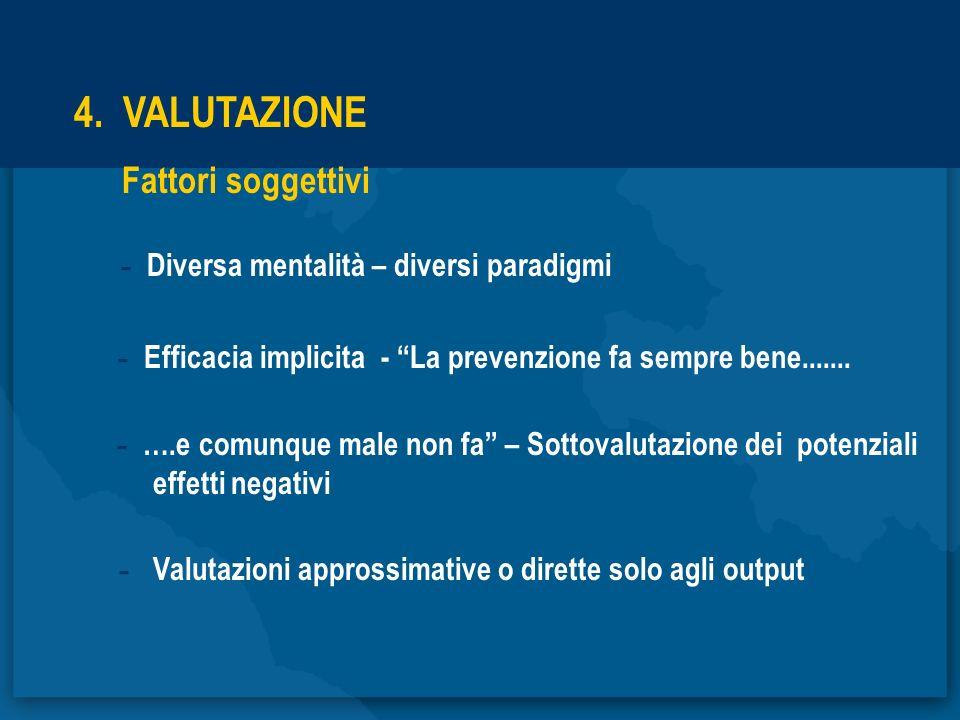 4. VALUTAZIONE Fattori soggettivi