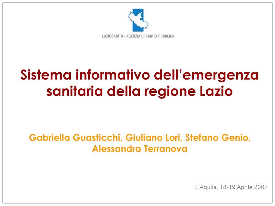 Sistema informativo dell'emergenza sanitaria della regione Lazio