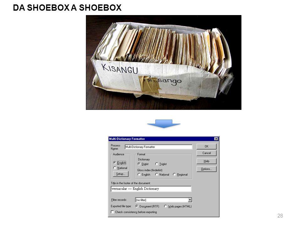 DA SHOEBOX A SHOEBOX