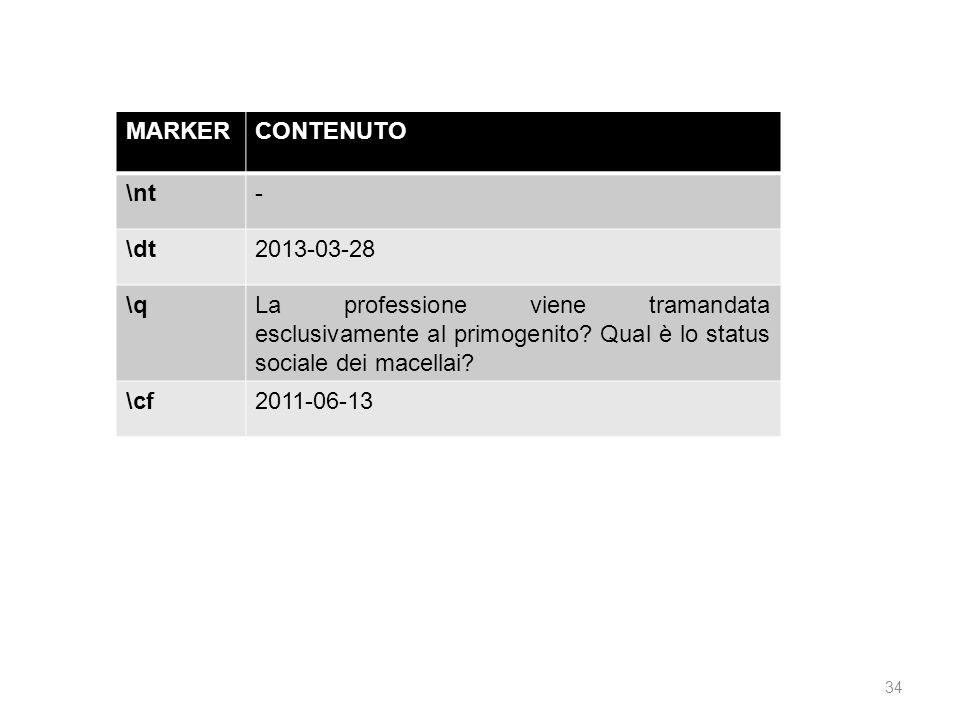 MARKER CONTENUTO. \nt. - \dt. 2013-03-28. \q.