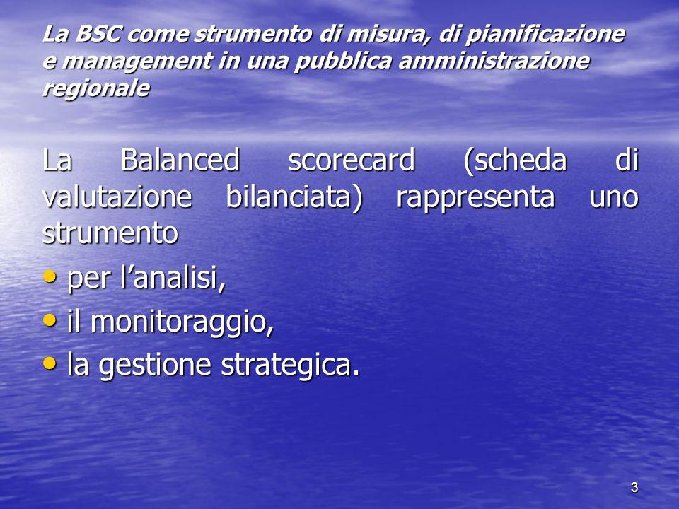 la gestione strategica.