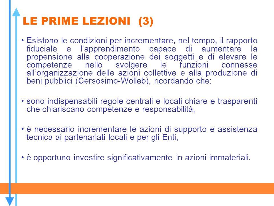 LE PRIME LEZIONI (3)