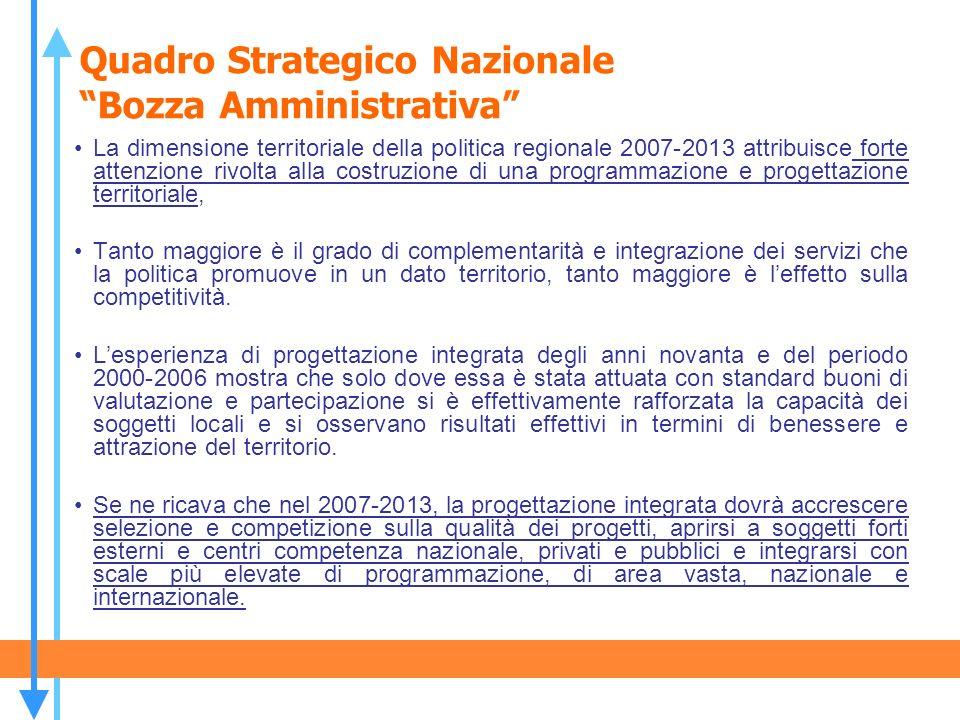 Quadro Strategico Nazionale Bozza Amministrativa