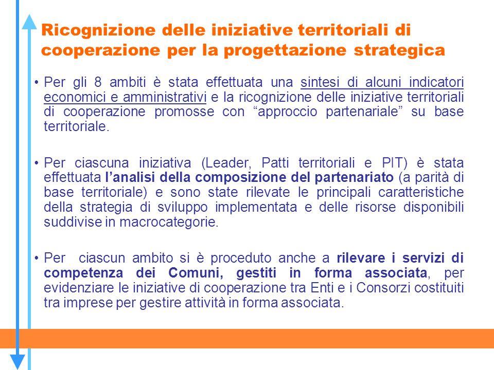 Ricognizione delle iniziative territoriali di cooperazione per la progettazione strategica