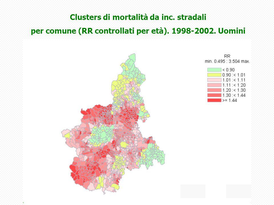 Clusters di mortalità da inc. stradali