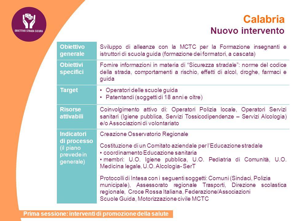 Calabria Nuovo intervento