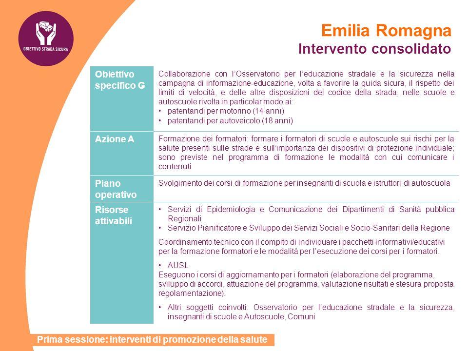 Emilia Romagna Intervento consolidato
