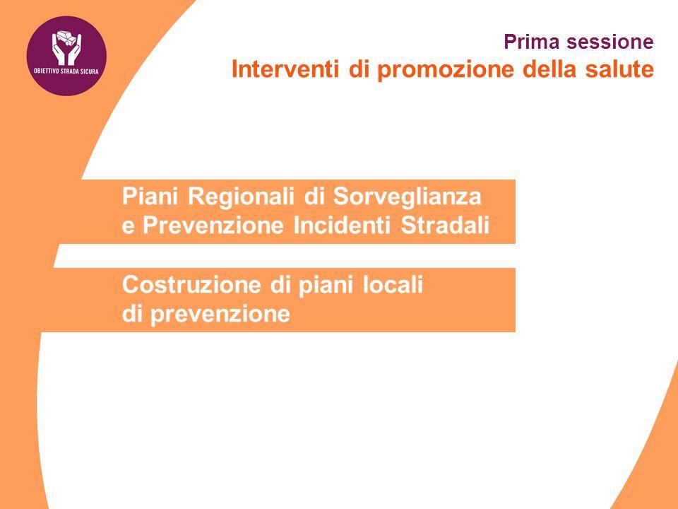 Prima sessione Interventi di promozione della salute