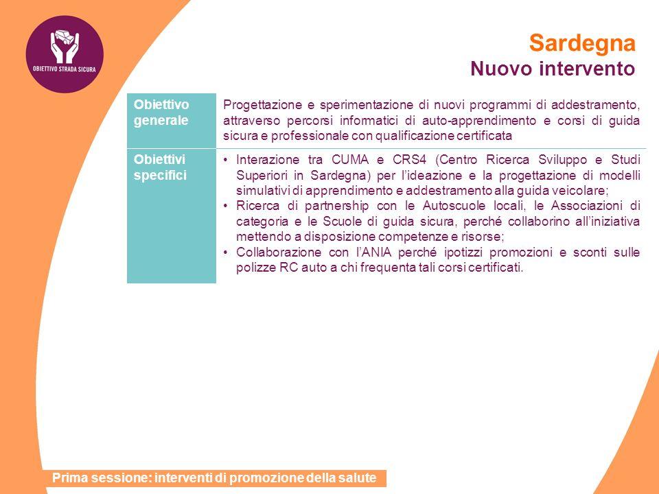 Sardegna Nuovo intervento