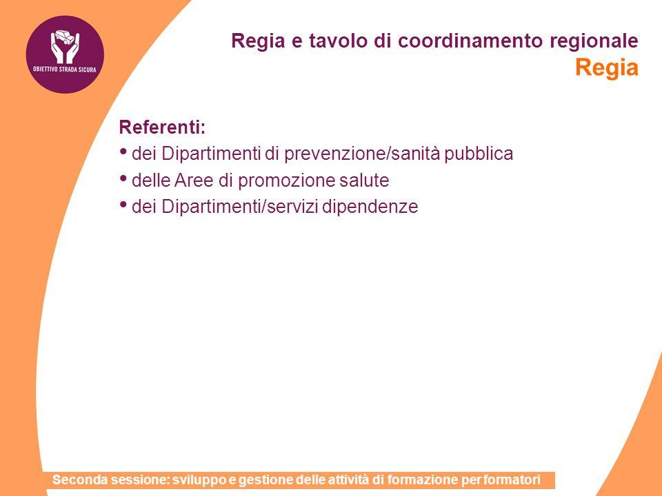 Regia e tavolo di coordinamento regionale Regia