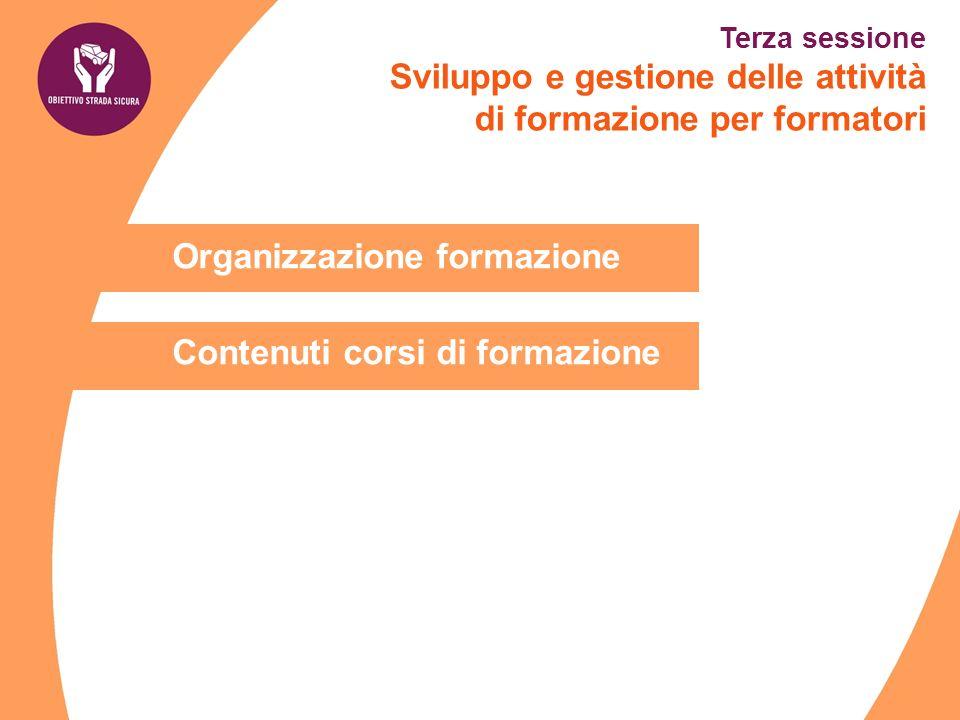 Organizzazione formazione Contenuti corsi di formazione