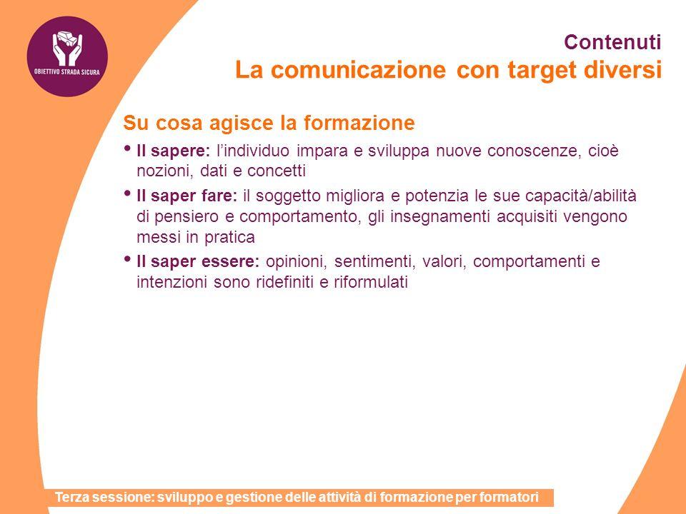 Contenuti La comunicazione con target diversi