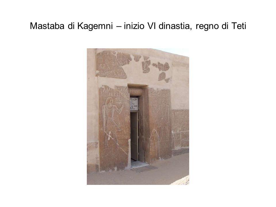 Mastaba di Kagemni – inizio VI dinastia, regno di Teti