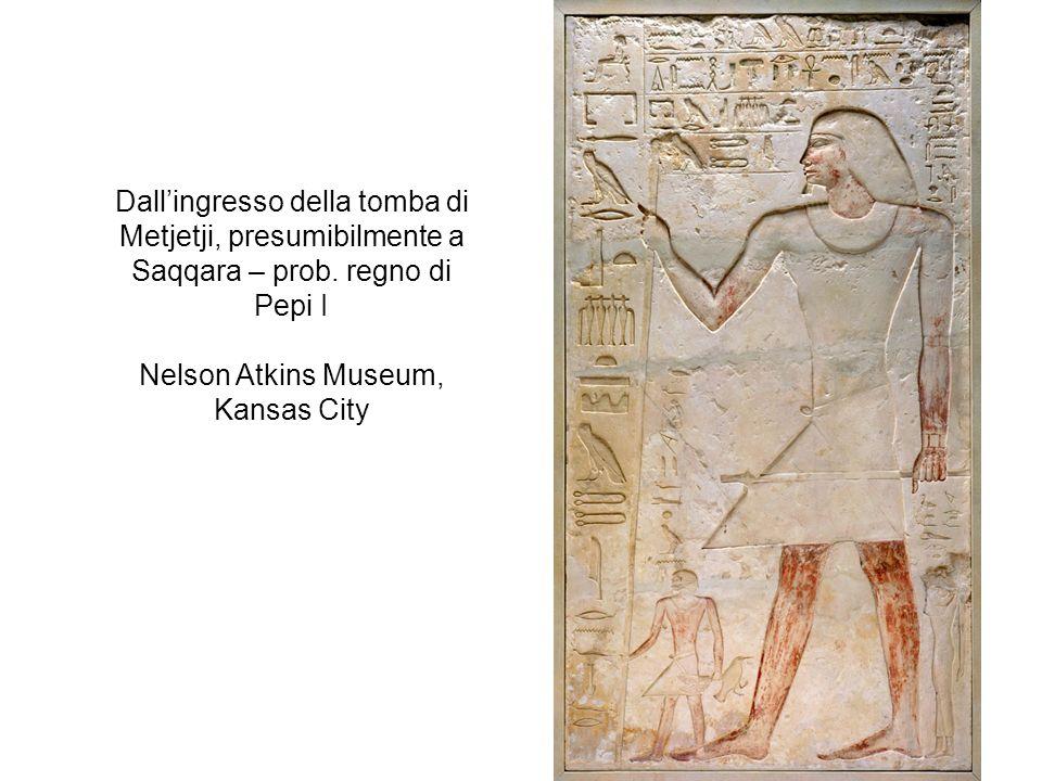 Dall'ingresso della tomba di Metjetji, presumibilmente a Saqqara – prob.