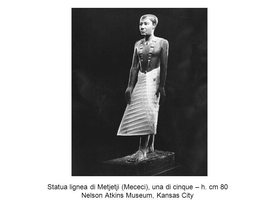 Statua lignea di Metjetji (Mececi), una di cinque – h