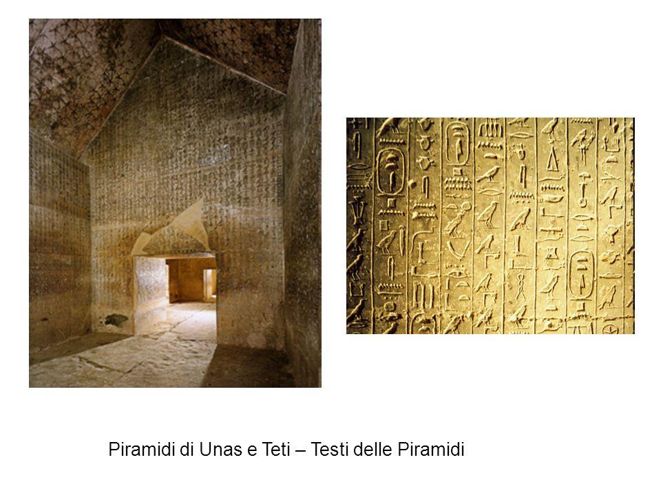 Piramidi di Unas e Teti – Testi delle Piramidi