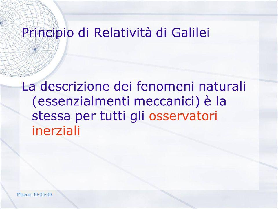Principio di Relatività di Galilei