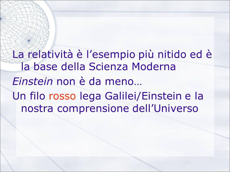La relatività è l'esempio più nitido ed è la base della Scienza Moderna