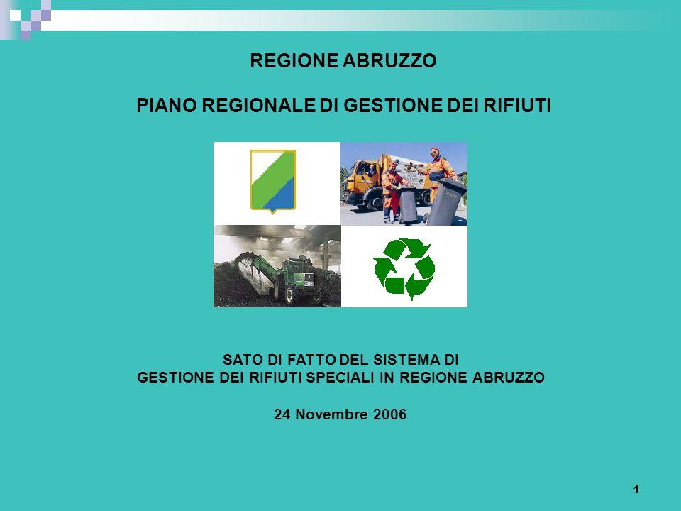 REGIONE ABRUZZO PIANO REGIONALE DI GESTIONE DEI RIFIUTI