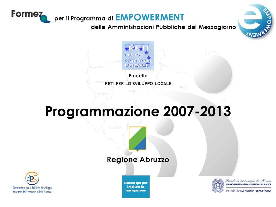 Programmazione 2007-2013 Regione Abruzzo