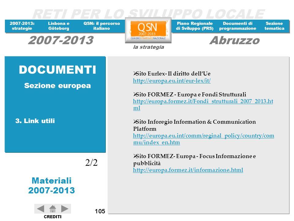 DOCUMENTI 2/2 Sezione europea 3. Link utili