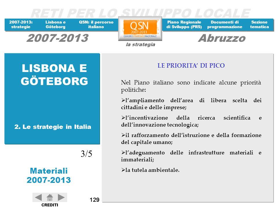 LISBONA E GÖTEBORG 3/5 LE PRIORITA' DI PICO