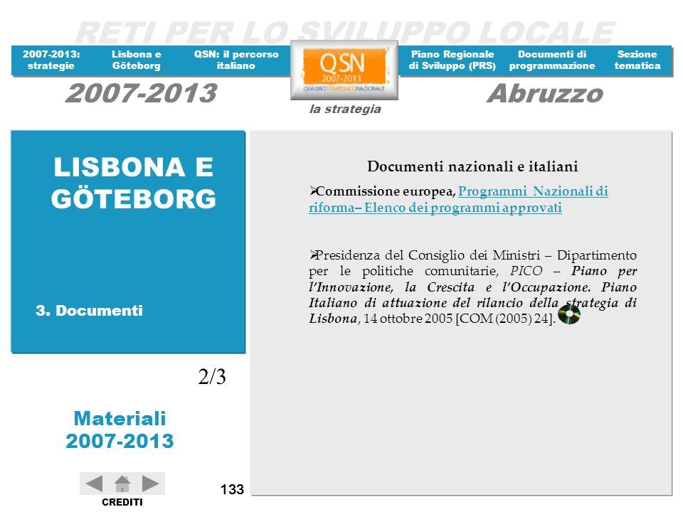 Documenti nazionali e italiani