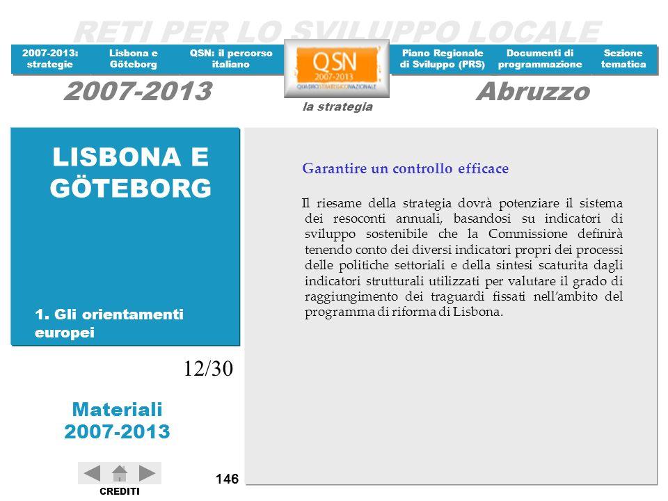LISBONA E GÖTEBORG 12/30 Garantire un controllo efficace