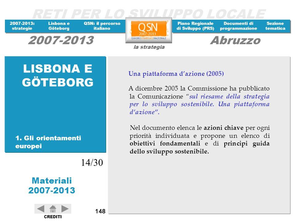LISBONA E GÖTEBORG 14/30 Una piattaforma d'azione (2005)