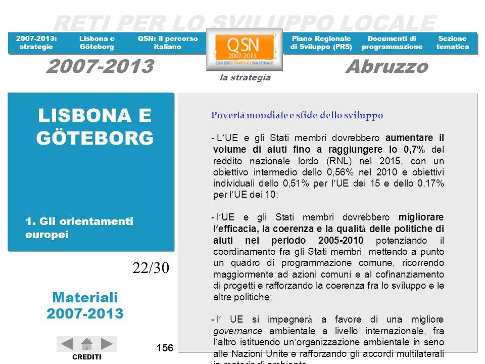 LISBONA E GÖTEBORG 22/30 1. Gli orientamenti europei