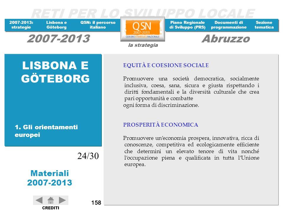 LISBONA E GÖTEBORG 24/30 1. Gli orientamenti europei