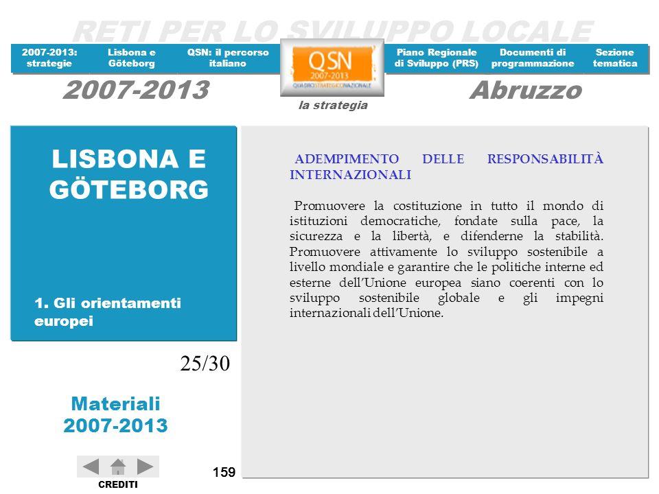 LISBONA E GÖTEBORG 25/30 1. Gli orientamenti europei