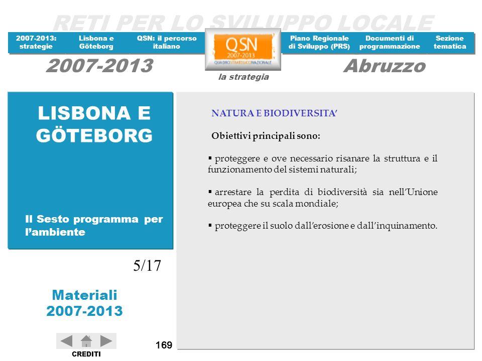 LISBONA E GÖTEBORG 5/17 Il Sesto programma per l'ambiente
