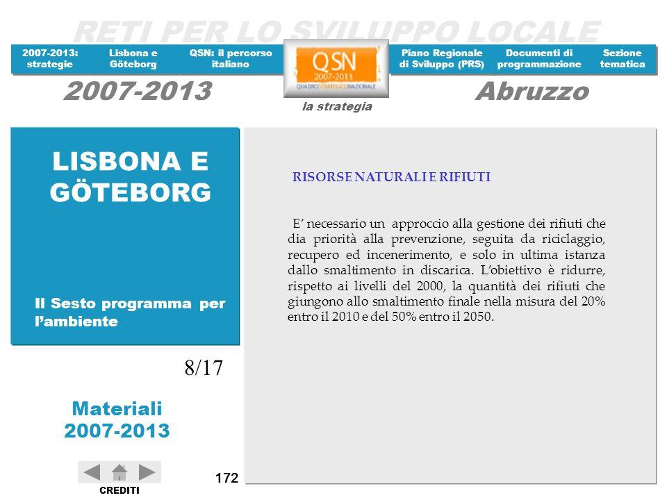 LISBONA E GÖTEBORG 8/17 Il Sesto programma per l'ambiente