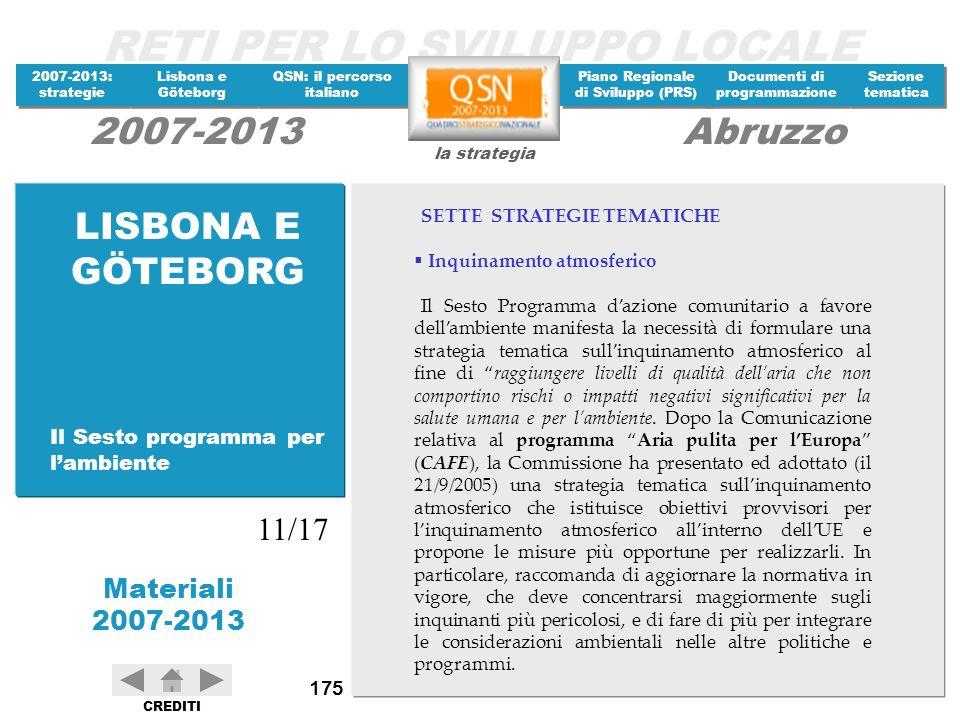 LISBONA E GÖTEBORG 11/17 Il Sesto programma per l'ambiente