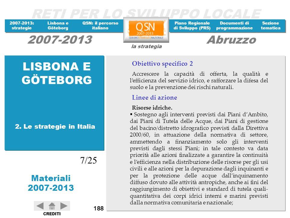 LISBONA E GÖTEBORG 7/25 Obiettivo specifico 2 Linee di azione
