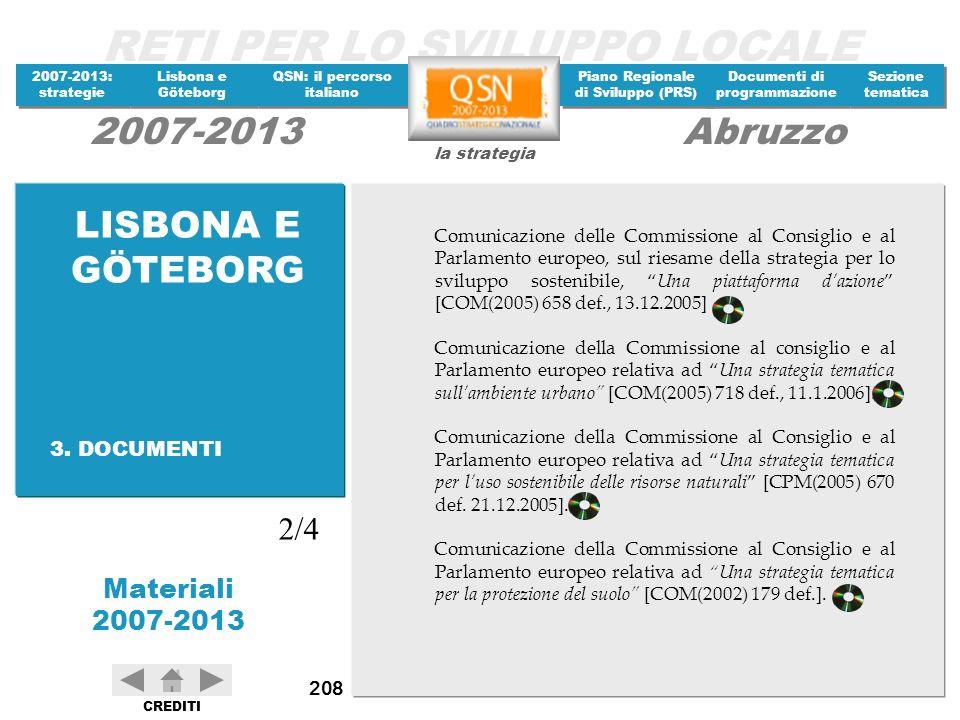 LISBONA E GÖTEBORG 2/4 3. DOCUMENTI